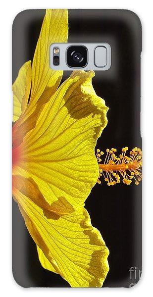 Sunlit Hibiscus Galaxy Case