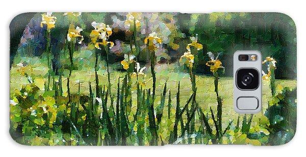 Sunlit Irises Galaxy Case