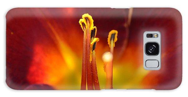 Sunlit Lily Galaxy Case by David Porteus