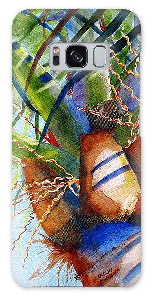 Sunlit Palm Galaxy Case by Carlin Blahnik