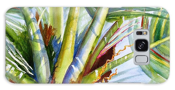 Sunlit Palm Fronds Galaxy Case