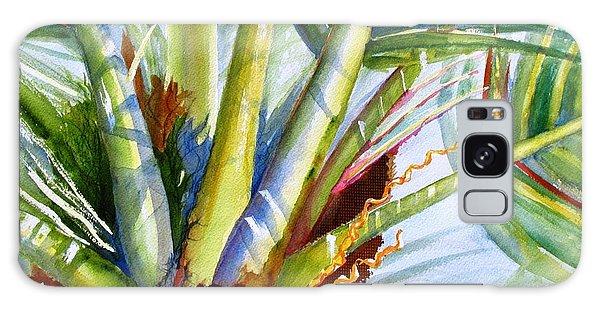 Sunlit Palm Fronds Galaxy Case by Carlin Blahnik
