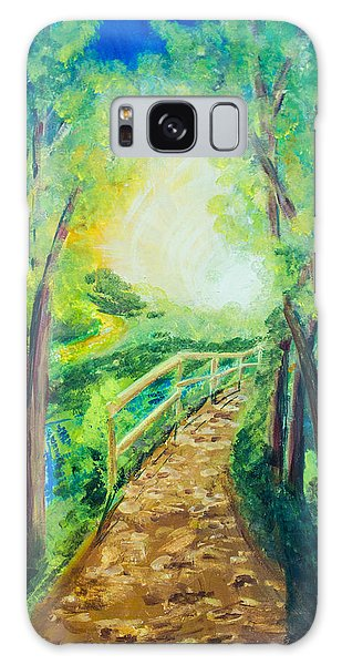 Sunlit Path Galaxy Case