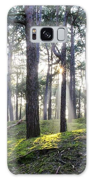 Sunlit Trees Galaxy Case by Spikey Mouse Photography