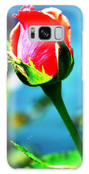 Sunlite Rose Bud Galaxy Case by Judy Palkimas