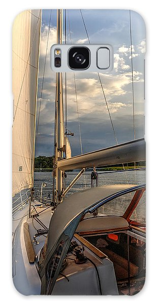 Sunny Afternoon Inland Sailing In Poland 2 Galaxy Case by Julis Simo