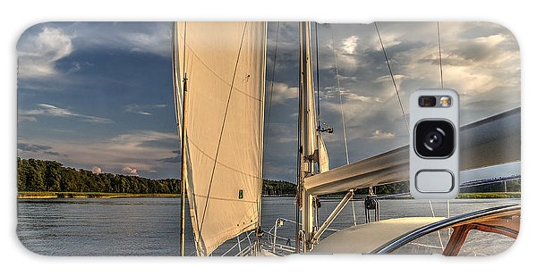 Sunny Afternoon Inland Sailing In Poland Galaxy Case by Julis Simo