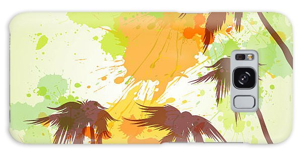 Reflections Galaxy Case - Sunny Beach Watercolor Vector by Lunetskaya