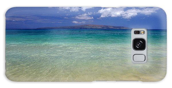 Sunny Blue Beach Makena Maui Hawaii Galaxy Case