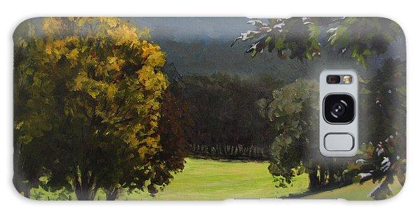 Sunny Fall Day Galaxy Case by Karen Ilari