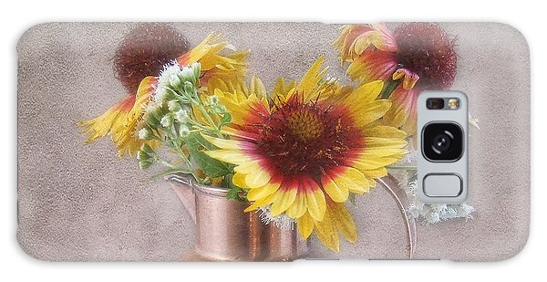 Sunny Treasure Flowers In A Copper Jug Galaxy Case by Louise Kumpf