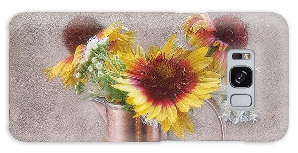 Sunny Treasure Flowers In A Copper Jug Galaxy Case