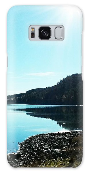 Sunny Sky By The Lake Galaxy Case