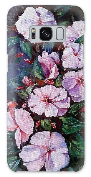 Sunpatiens Flowers Galaxy Case by Rose Wang