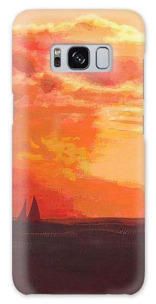 Sunrise And Sails Emerald Isle North Carolina Galaxy Case