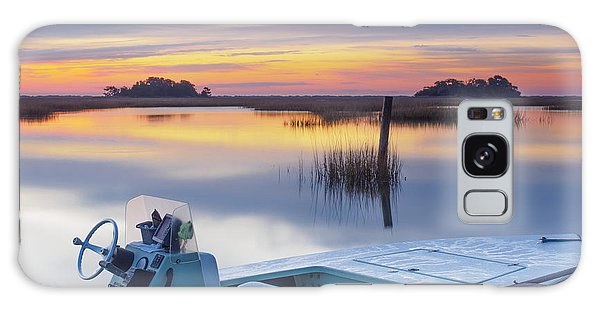 Sunrise Art Photograph - Hells Bay Marquesa Boat By Jo Ann Tomaselli Galaxy Case