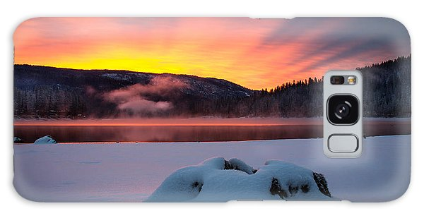 Sunrise At Bass Lake Galaxy Case