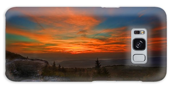 Galaxy Case featuring the photograph Sunrise At Bear Rocks In Dolly Sods by Dan Friend