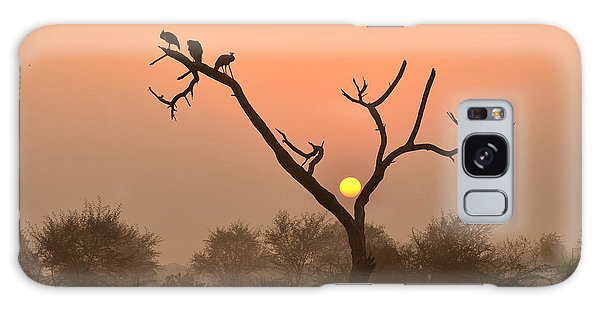 Sunrise At Bharatpur Galaxy Case by Fotosas Photography