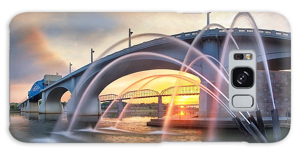 Sunrise At John Ross Landing Fountain Galaxy Case