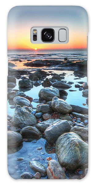 Sunrise At Low Tide Galaxy Case
