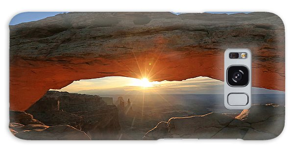 Sunrise At Mesa Arch Galaxy Case by Jaki Miller