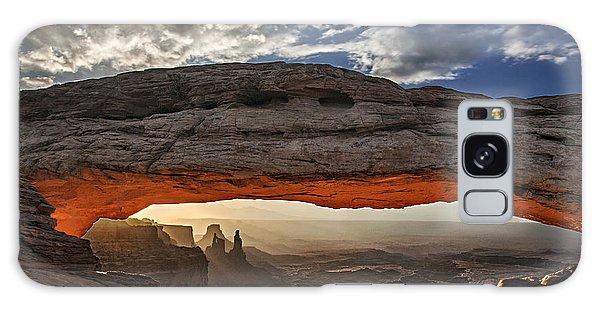 Sunrise At Mesa Arch Galaxy Case by Roman Kurywczak