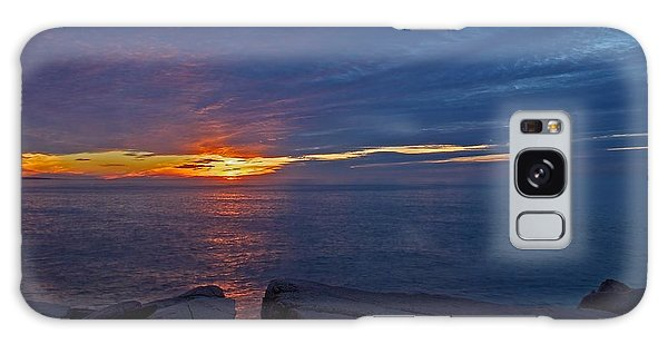 Otter Rock Galaxy Case - Sunrise At Otter Cliffs by Stuart Litoff