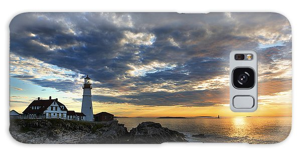 Sunrise At Portland Head Light Galaxy Case