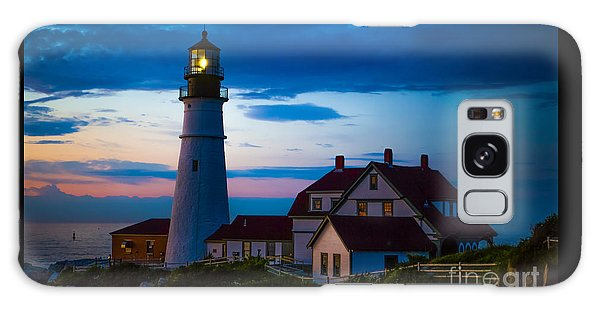 Sunrise At Portland Head Lighthouse Galaxy Case