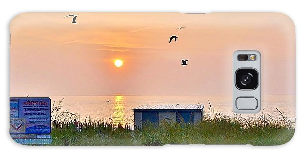 Sunrise At Rehoboth Beach Boardwalk Galaxy Case