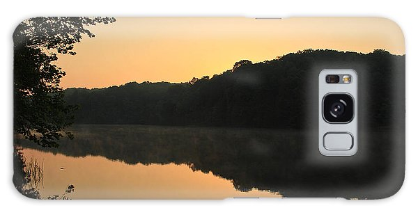 Sunrise At Rose Lake Galaxy Case