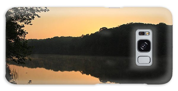 Sunrise At Rose Lake Galaxy Case