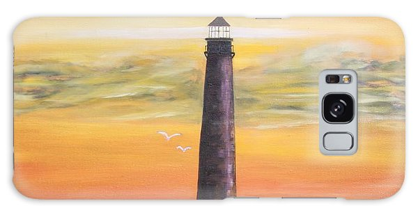 Sunrise At Sand Island Lighthouse Galaxy Case