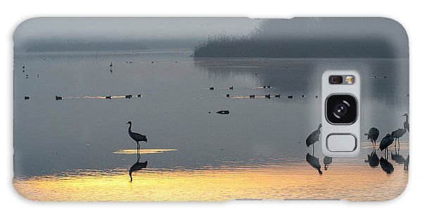 Sunrise Over The Hula Valley Israel 1 Galaxy Case