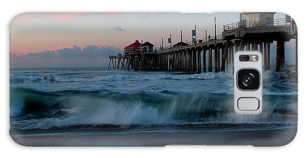 Sunrise At The Pier Galaxy Case by Duncan Selby