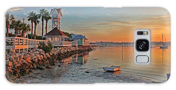 Sunrise At The Pier Galaxy Case
