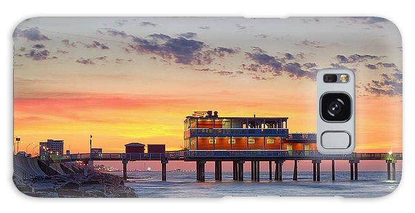 Sunrise At The Pier - Galveston Texas Gulf Coast Galaxy Case