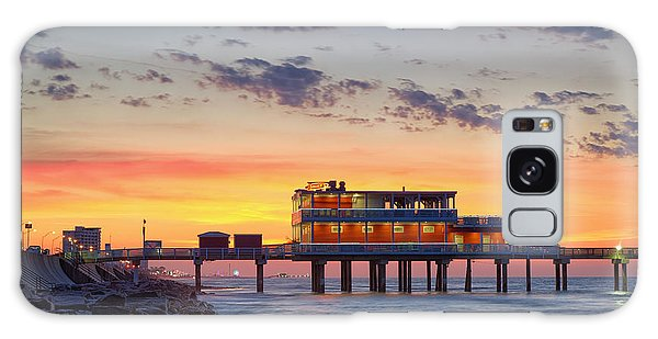 Sunrise At The Pier - Galveston Texas Gulf Coast Galaxy Case