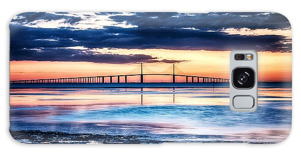 Sunrise At The Skyway Bridge Hdr Dec 2010 Galaxy Case by Michael White