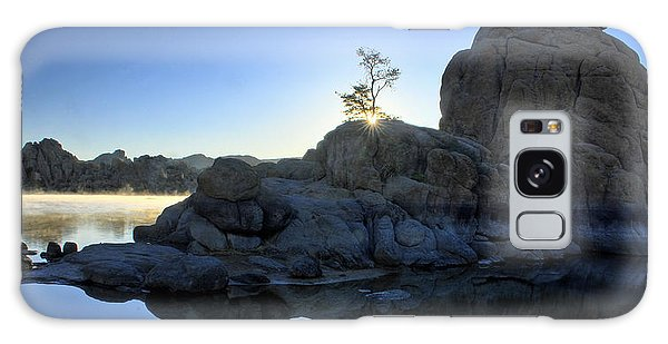 Sunrise At Watson Lake Galaxy Case by Dan Myers