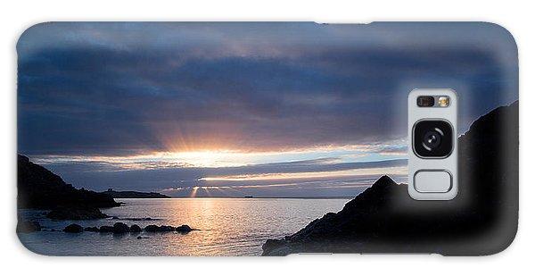 Sunrise At Whiterock Galaxy Case