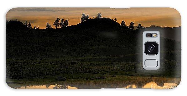 Sunrise Behind A Yellowstone Ridge Galaxy Case