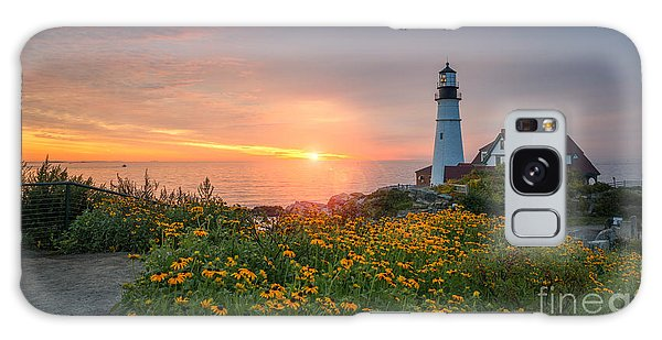 Sunrise Bliss At Portland Lighthouse Galaxy Case