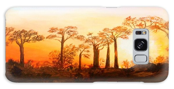 Sunrise Boab Trees Galaxy Case by Renate Voigt