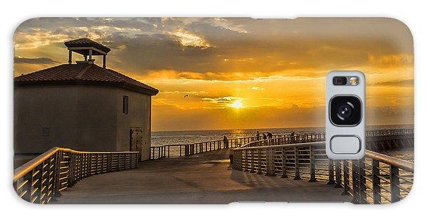 Sunrise Boynton Beach Jetty Galaxy Case by Don Durfee