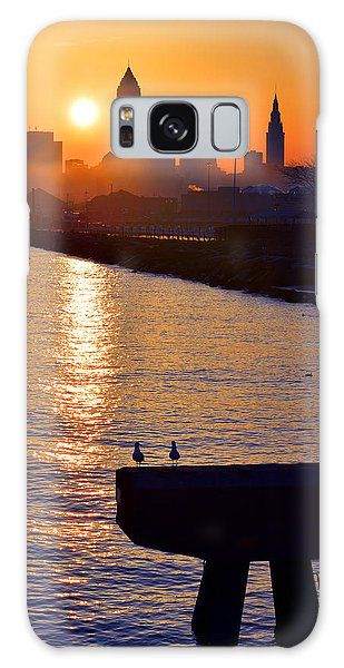 Sunrise From Edgewater Galaxy Case