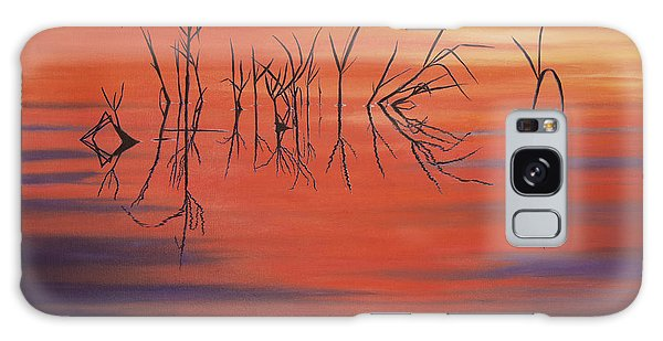 Sunrise Grass Reflections Galaxy Case