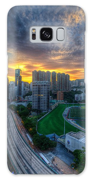 Sunrise In Hong Kong Galaxy Case by Mike Lee
