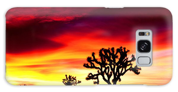 Sunrise In Joshua Tree Nat'l Park Galaxy Case